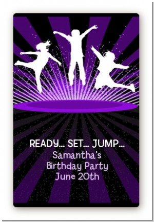 Trampoline - Custom Large Rectangle Birthday Party Sticker/Labels