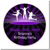 Trampoline - Round Personalized Birthday Party Sticker Labels