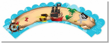 Pirate Treasure Map - Birthday Party Cupcake Wrappers