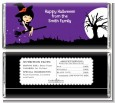 Trendy Witch - Personalized Halloween Candy Bar Wrappers thumbnail