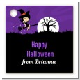 Trendy Witch - Personalized Halloween Card Stock Favor Tags thumbnail