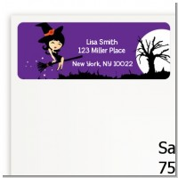 Trendy Witch - Halloween Return Address Labels