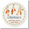 Dream Catcher - Round Personalized Birthday Party Sticker Labels thumbnail
