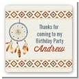 Dream Catcher - Square Personalized Birthday Party Sticker Labels thumbnail