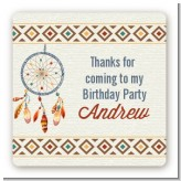 Dream Catcher - Square Personalized Birthday Party Sticker Labels