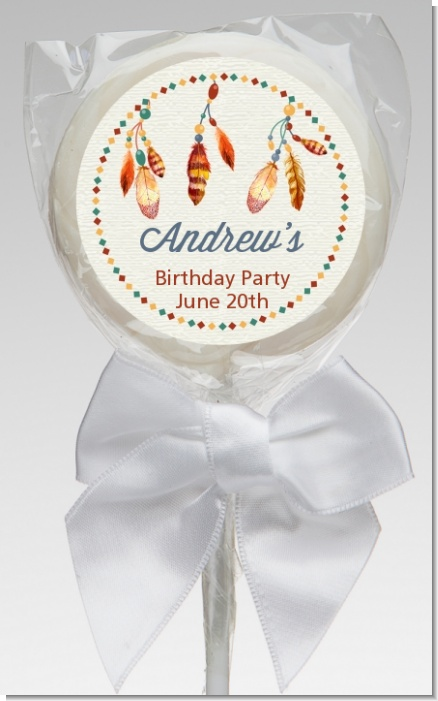Dream Catcher - Personalized Birthday Party Lollipop Favors