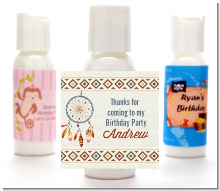 Dream Catcher - Personalized Birthday Party Lotion Favors