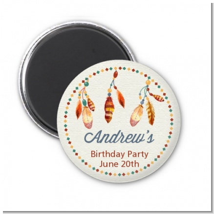 Dream Catcher - Personalized Birthday Party Magnet Favors
