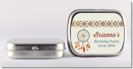 Dream Catcher - Personalized Birthday Party Mint Tins