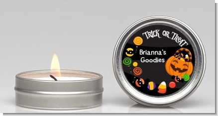 Trick or Treat Candy - Halloween Candle Favors