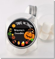 Trick or Treat Candy - Personalized Halloween Candy Jar