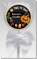 Trick or Treat Candy - Personalized Halloween Lollipop Favors