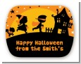 Trick or Treat - Personalized Halloween Rounded Corner Stickers thumbnail