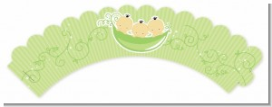 Triplets Three Peas in a Pod Asian - Baby Shower Cupcake Wrappers