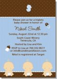 Triplets 3 Boys Caucasian - Baby Shower Invitations