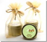 Triplets Three Peas in a Pod African American - Baby Shower Gold Tin Candle Favors