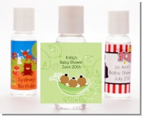 Triplets Three Peas in a Pod African American - Personalized Baby Shower Hand Sanitizers Favors