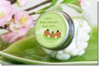 Triplets Three Peas in a Pod African American One Girl Two Boys - Personalized Baby Shower Candy Jar