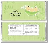 Triplets Three Peas in a Pod Asian - Personalized Baby Shower Candy Bar Wrappers