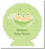 Triplets Three Peas in a Pod Asian - Personalized Baby Shower Centerpiece Stand