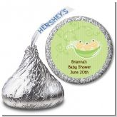 Triplets Three Peas in a Pod Asian - Hershey Kiss Baby Shower Sticker Labels