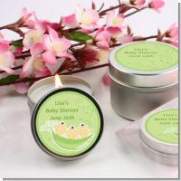 Triplets Three Peas in a Pod Asian Three Girls - Baby Shower Candle Favors