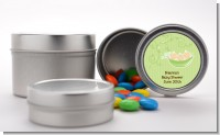 Triplets Three Peas in a Pod Caucasian - Custom Baby Shower Favor Tins