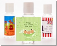 Triplets Three Peas in a Pod Hispanic - Personalized Baby Shower Hand Sanitizers Favors