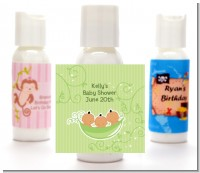 Triplets Three Peas in a Pod Hispanic - Personalized Baby Shower Lotion Favors