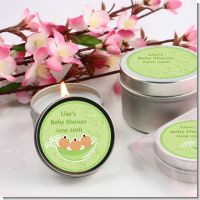 Triplets Three Peas in a Pod Hispanic Three Boys - Baby Shower Candle Favors