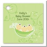Triplets Three Peas in a Pod Asian - Personalized Baby Shower Card Stock Favor Tags