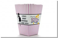 Ready To Pop Purple - Personalized Baby Shower Popcorn Boxes