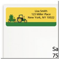 Tractor Truck - Baby Shower Return Address Labels