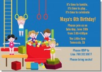 Tumble Gym - Birthday Party Invitations