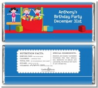 Tumble Gym - Personalized Birthday Party Candy Bar Wrappers