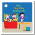 Tumble Gym - Personalized Birthday Party Card Stock Favor Tags thumbnail