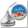 Tumble Gym - Hershey Kiss Birthday Party Sticker Labels thumbnail