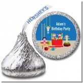 Tumble Gym - Hershey Kiss Birthday Party Sticker Labels