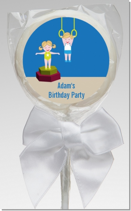 Tumble Gym - Personalized Birthday Party Lollipop Favors
