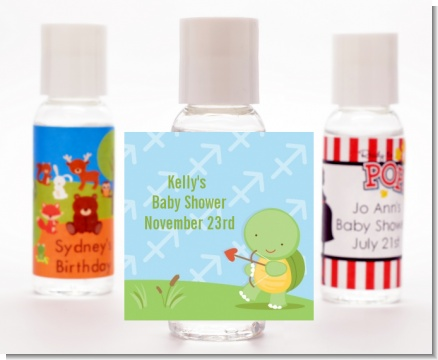 Turtle | Sagittarius Horoscope - Personalized Baby Shower Hand Sanitizers Favors