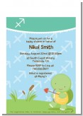Turtle | Sagittarius Horoscope - Baby Shower Petite Invitations