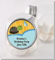 Turtle Blue - Personalized Birthday Party Candy Jar
