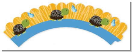 Baby Turtle Blue - Baby Shower Cupcake Wrappers