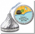Turtle Blue - Hershey Kiss Birthday Party Sticker Labels thumbnail