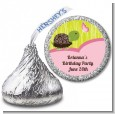 Turtle Girl - Hershey Kiss Birthday Party Sticker Labels thumbnail