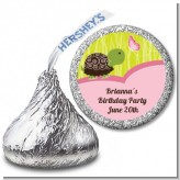 Turtle Girl - Hershey Kiss Birthday Party Sticker Labels