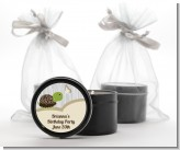 Turtle Neutral - Birthday Party Black Candle Tin Favors