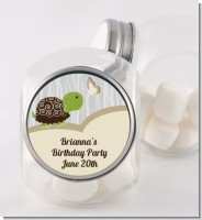 Turtle Neutral - Personalized Birthday Party Candy Jar