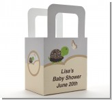 Baby Turtle Neutral - Personalized Baby Shower Favor Boxes