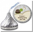 Turtle Neutral - Hershey Kiss Birthday Party Sticker Labels thumbnail